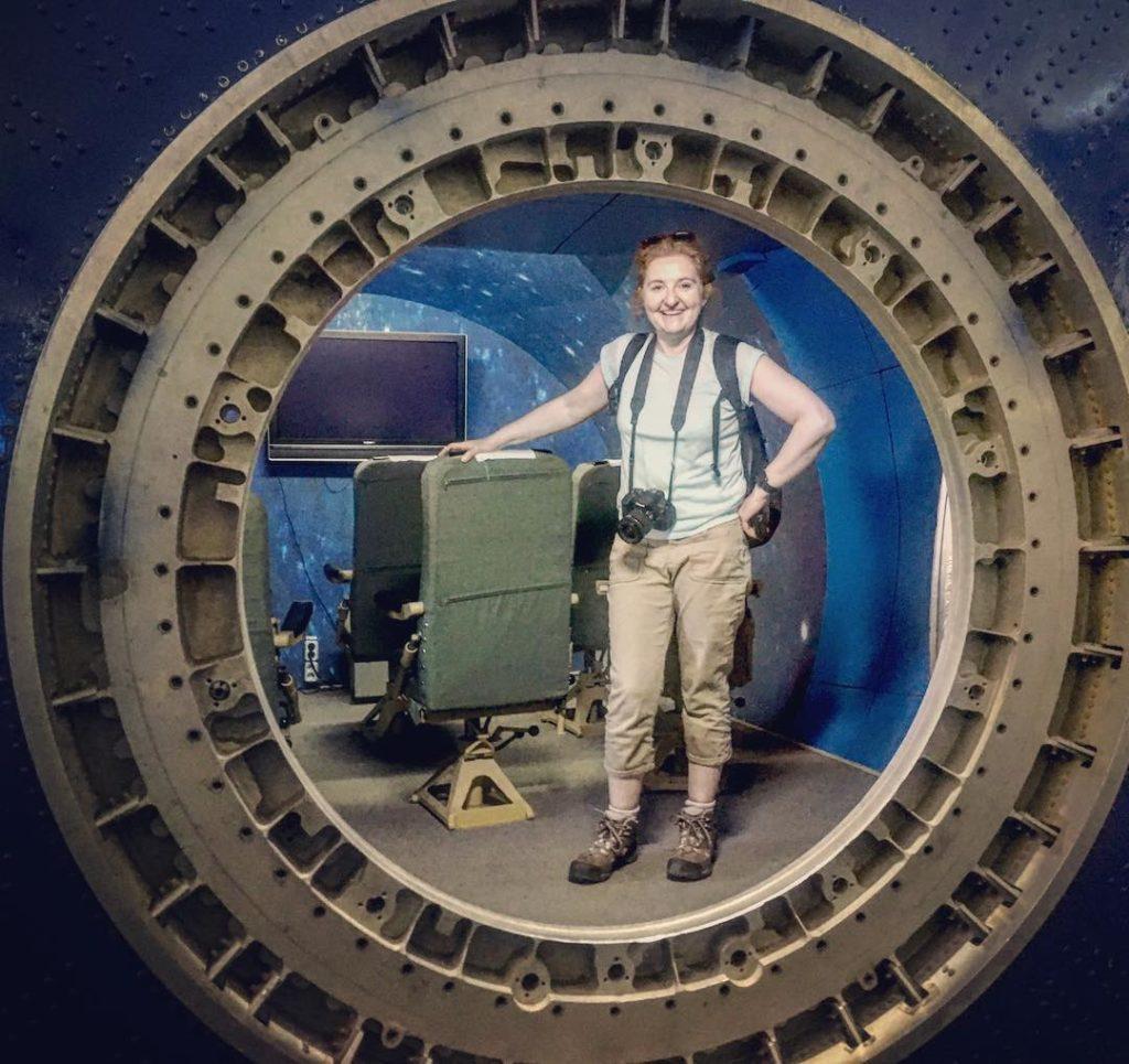 Galinas-picture-of-me-in-the-Buran Niamh Shaw, elon musk, nasa, spacex, engineering, richard branson, communication, stem, astronaut, niamh, scientist, artist, perform, esa, polymath, broadcast, blue origin, virgin galactic, niamh shaw, space exploration, norah patten, zero g, irish astronaut, science communication, women in stem, roscosmos, female astronauts, jaxa, baikonur, irish engineering, ireland's first astronaut, multi disciplined, stem advocate, female space explorer, irelands first female astronaut, irelands first person in space, irish female activist, irish female polymath, irish female role model, irish female trailblazer, irish role models, irish space explorer, performer & communicator & space explorer, space advocate, stem communicator