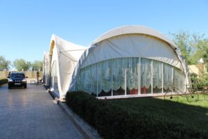 The Yurt at Baikonur Hotel where we eat a lot during our trip