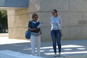 The lovely tour guide lady and our translator Yana