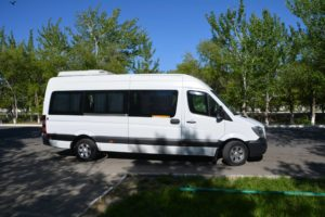 Our minivan that we use throughout the whole trip (Credit:WP