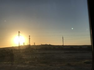 Morning drive across the steppe (Credit WP)