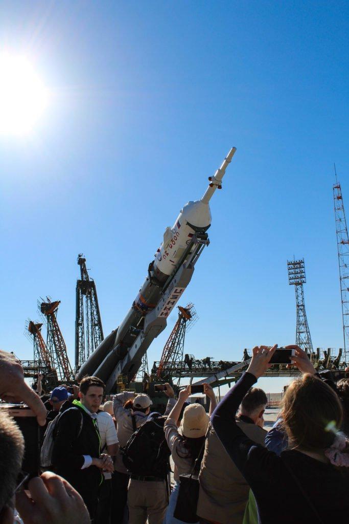 Soyuz-MS-09-beng-positioned-vertically-©Space-Affairs-2018 Niamh Shaw, elon musk, nasa, spacex, engineering, richard branson, communication, stem, astronaut, niamh, scientist, artist, perform, esa, polymath, broadcast, blue origin, virgin galactic, niamh shaw, space exploration, norah patten, zero g, irish astronaut, science communication, women in stem, roscosmos, female astronauts, jaxa, baikonur, irish engineering, ireland's first astronaut, multi disciplined, stem advocate, female space explorer, irelands first female astronaut, irelands first person in space, irish female activist, irish female polymath, irish female role model, irish female trailblazer, irish role models, irish space explorer, performer & communicator & space explorer, space advocate, stem communicator